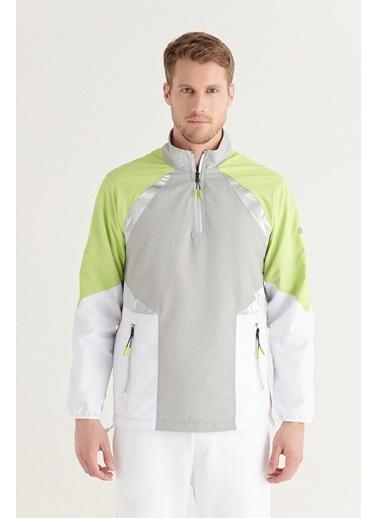 Avva AVVA Erkek Gri Dik Yaka Paraşüt Kumaşlı Reflektör Detaylı Parçalı Sweatshirt A11Y1011 Gri